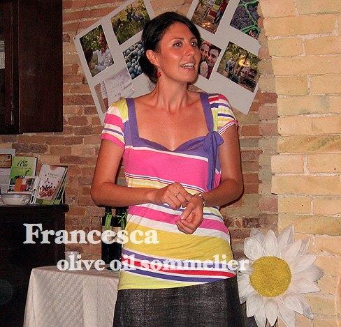 Francesca, Cantinarte, Olive Oil Somelier
