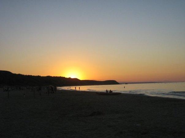 Punta Aderci Natural Park at dusk